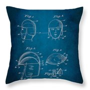 Soldier's Headwear Patent 1919 Throw Pillow