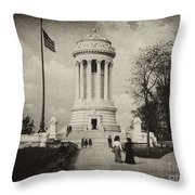 Soldiers Memorial - Ny - Toned Throw Pillow