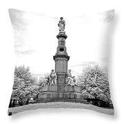 Soldier's Monument - Gettysburg - Irbw Throw Pillow