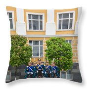 Soldiers Of The Presidential Regimental Throw Pillow