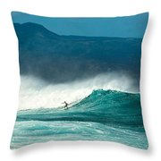 Sole Surfer Throw Pillow