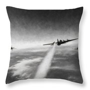 Wounded Warrior - Charcoal Throw Pillow