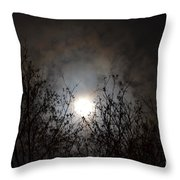 Solemn Winter's Moonlight Throw Pillow