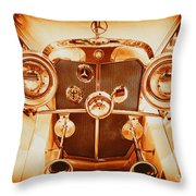 Solid Gold Mercedes Throw Pillow