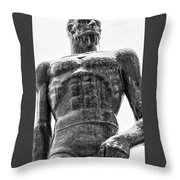 Solid Sparty Face Throw Pillow