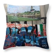 Solidarity With Palestine Throw Pillow