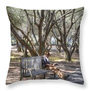 Solitaire Reading Throw Pillow