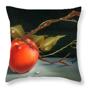 Solitary Apples Throw Pillow