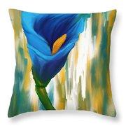 Solitary Blue Throw Pillow