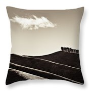 Solitary Cloud Throw Pillow