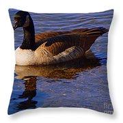 Solitary Goose Throw Pillow