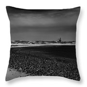 Solitary Lighthouse Throw Pillow
