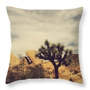 Solitary Man Throw Pillow
