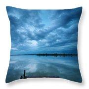 Solitary Pier Throw Pillow