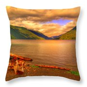 Solitude On Crescent Lake Throw Pillow