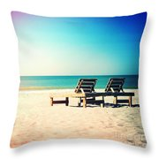 Solitude Photography Light Leaks Throw Pillow