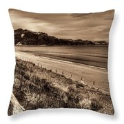 Solitude Sepia Throw Pillow