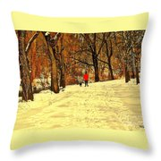 Solitude With A Friend Throw Pillow