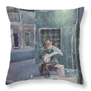 Solo By Streetlight Throw Pillow