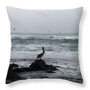 Solo Pelican Throw Pillow