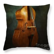 Solo Upright Bass Throw Pillow