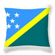 Solomon Island Flag Throw Pillow