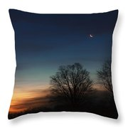 Solstice Moon Square Throw Pillow