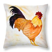 Some Days You Have To Paint A Rooster Throw Pillow