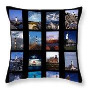 Some East Coast Lighthouses Throw Pillow