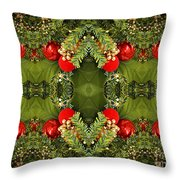 Some Of The Colors Of Christmas Altered Version  Throw Pillow