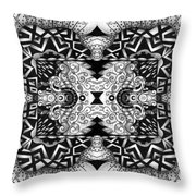 Some Reflections - A Lines And Dots And Gradual Shadings Compilation Throw Pillow