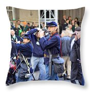 Some Revolutionary Flutiest Playing In The 2009 New York St. Patrick Day Parade Throw Pillow