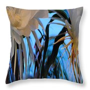 Some Serious Flowers Throw Pillow