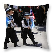 Some Young Italian Boys Marching In The St. Patrick Old Cathedral Parade Throw Pillow