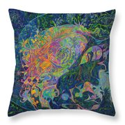 Someone's Footprint On The Universe's Face Throw Pillow