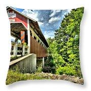 Somerset Glessner Bridge Throw Pillow