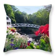 Somesville Bridge And Home Throw Pillow