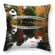 Somesville Bridge Throw Pillow