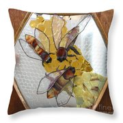 Something About Bees Throw Pillow