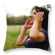 Something Beautiful About Joy Throw Pillow