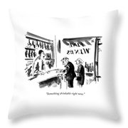 Something Drinkable Right Now Throw Pillow