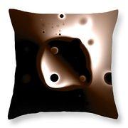 Something Strange In Orbit Throw Pillow