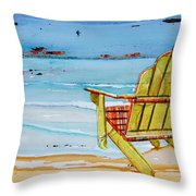 Sometimes It's Good To Be Shallow Throw Pillow by Danny Phillips