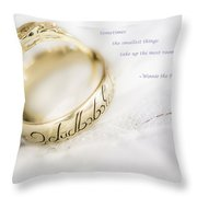 Sometimes The Smallest Things Take Up Most Room In Your Heart Throw Pillow