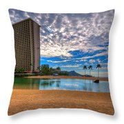 Somewhere In Honolulu Throw Pillow