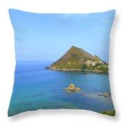 Algeria- Djidjelli Coast Throw Pillow