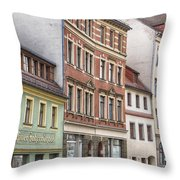 Somewhere In Town Throw Pillow