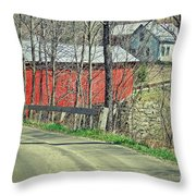 Somewhere In Vermont Throw Pillow