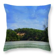 Somewhere On The River Throw Pillow