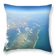 Somewhere Over Cuba Throw Pillow